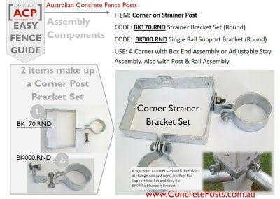 BK170.RND & BK000.RND for a Corner Strainer